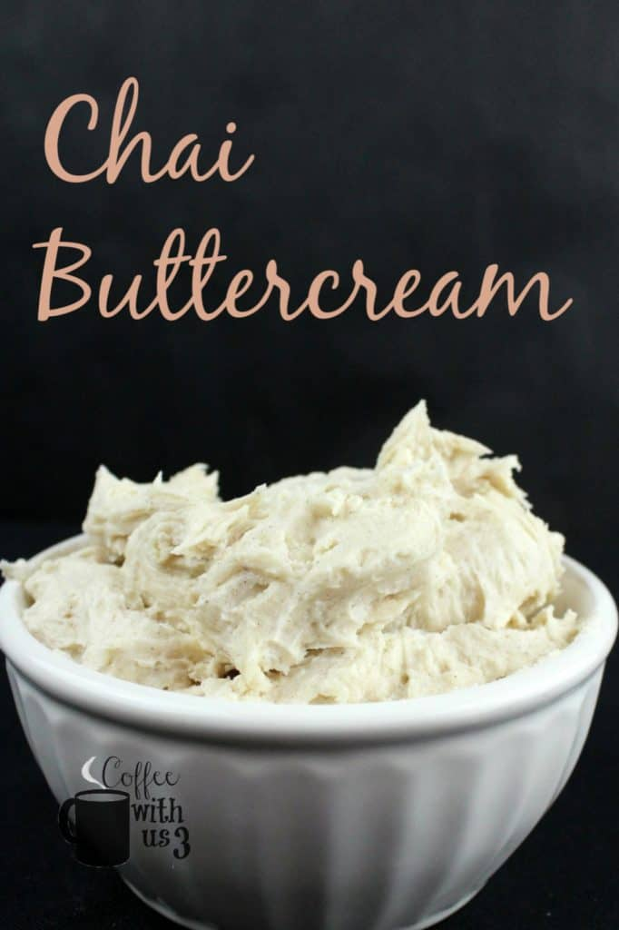 Chai Buttercream in a bowl