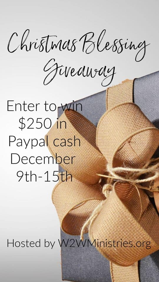 Christmas Blessings Giveaway: Enter for your change to win $250 paypal cash this holiday season! Easy entry for this awesome giveaway!