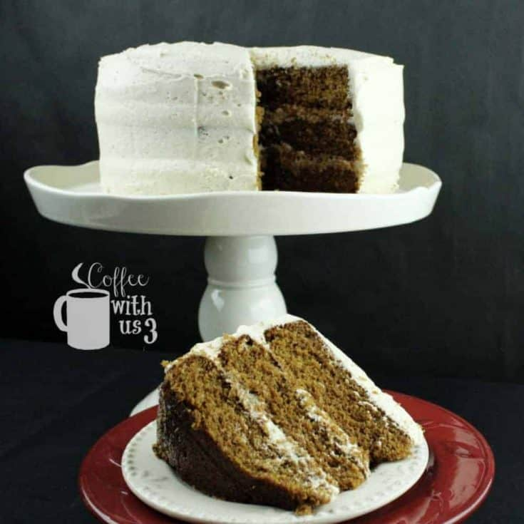 Gingerbread Cake with Chai Buttercream