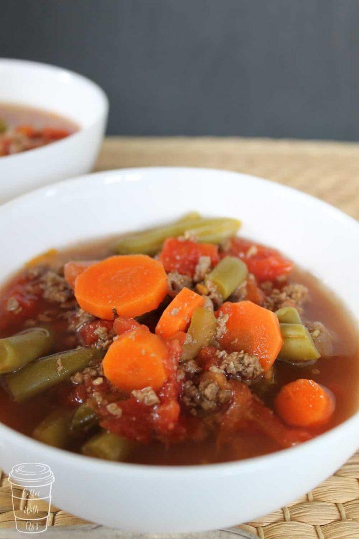 CrockPot Hamburger Vegetable Soup {Whole 30}
