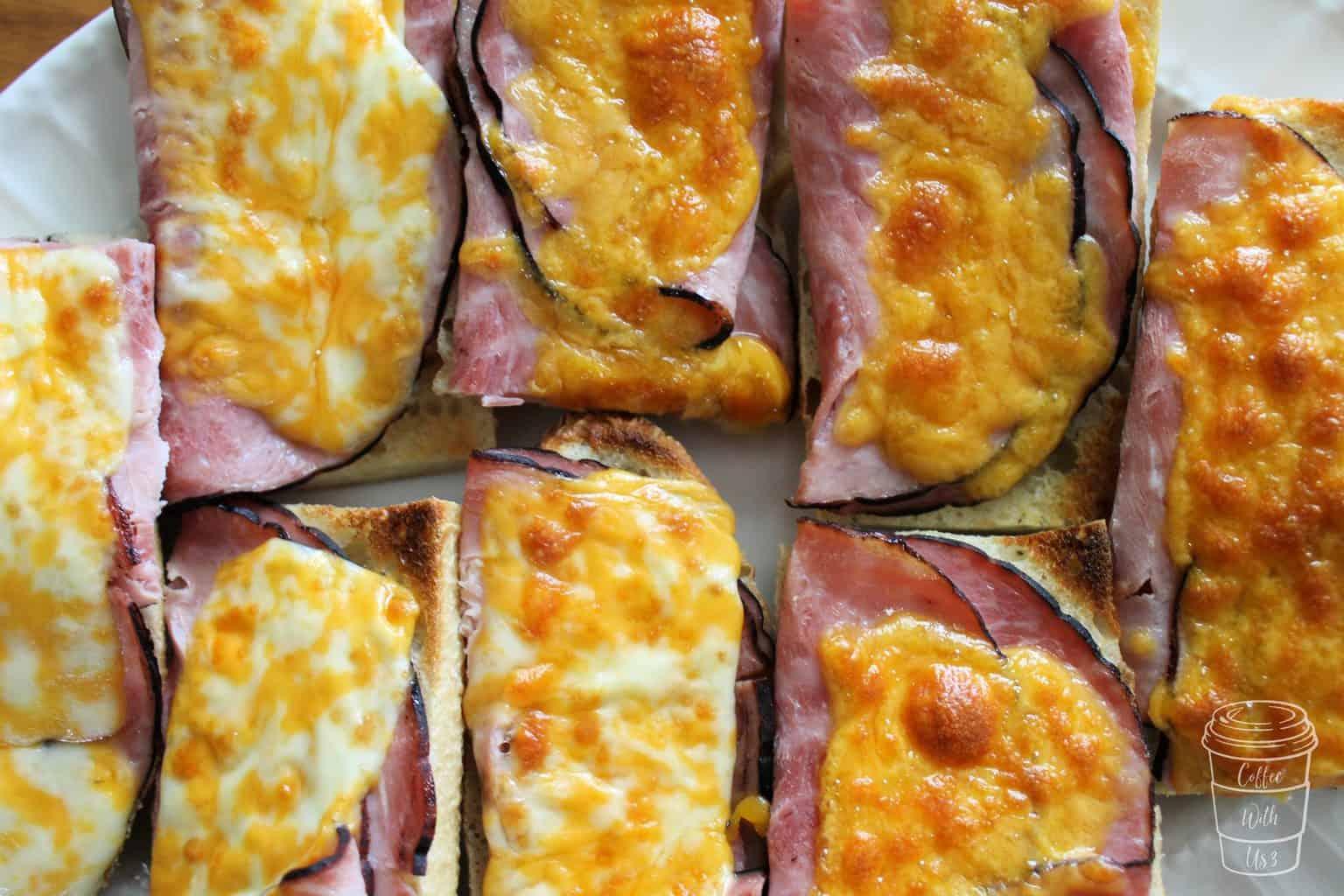 Close-up shot of Baguette Sandwich Melts