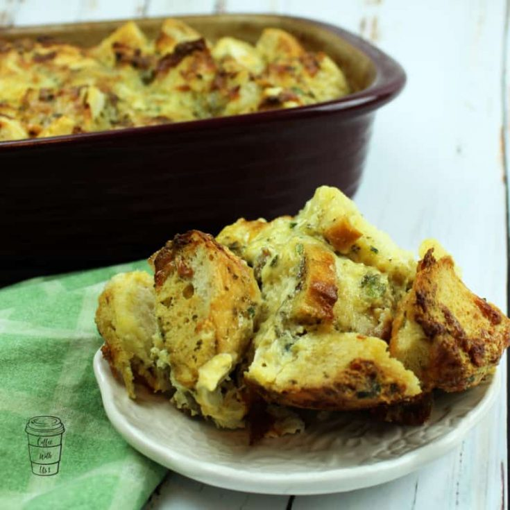 Sourdough Savory Bread Pudding